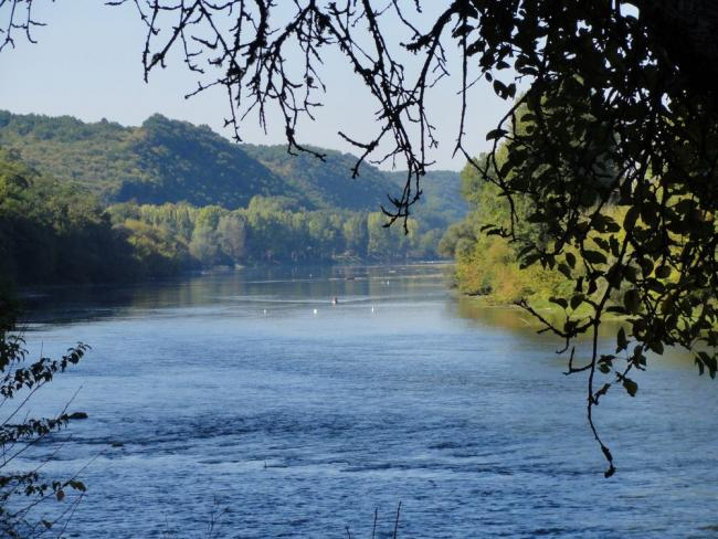 View of the river Dordogne