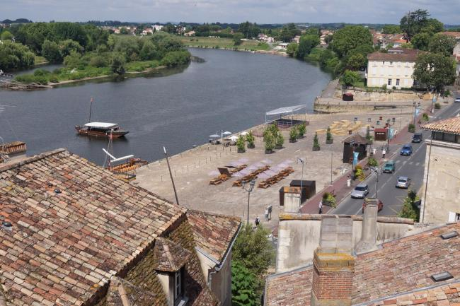 View of the roofs of Bergerac