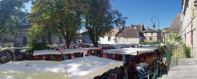 Le marché d'Issigeac